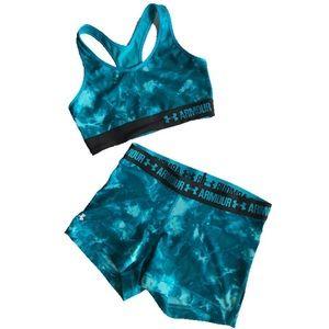 NWOT Tie-Dye Sports Bra and Shorts Set